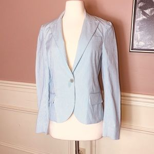 EUC! Theory Blue & White Seersucker Jacket Blazer
